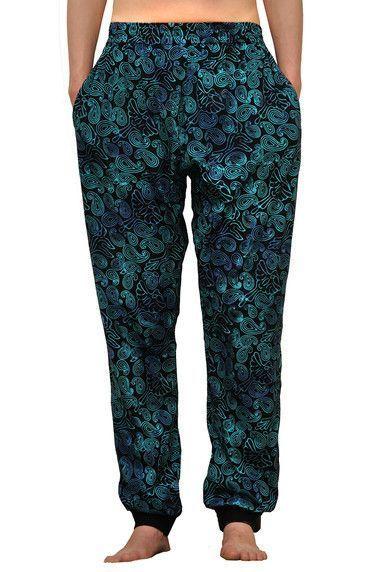 Dámské sportovní batikované kalhoty, tepláky BOB JT40 modré | SoNo spol. s r.o.