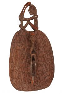 Štít Asmat dřevořezba 82 cm