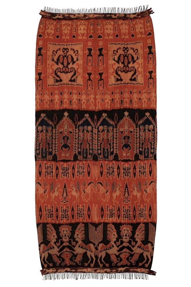 Ikat Sumba přehoz, tkaná textilie 240 x 115 cm | SoNo spol. s r.o.
