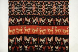 Ikat Sumba přehoz, tkaná textilie 242 x 113 cm | SoNo spol. s r.o.