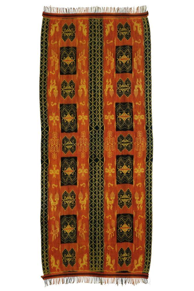 Ikat Sumba přehoz, tkaná textilie 260 x 120 cm | SoNo spol. s r.o.