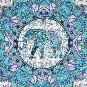 Přehoz na postel Elephant zelený 240 x 200 cm