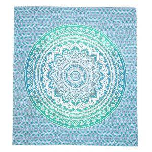 Přehoz Blue lotos zelený 240 x 200 cm