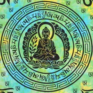 Přehoz na postel Multicolor Buddha zelený 220 x 200 cm