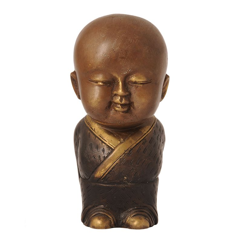 Soška Buddhistický mnich kov 17 cm