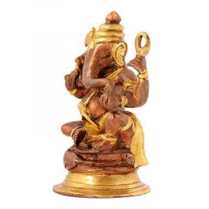 Soška Ganesh kov 12 cm na podstavci
