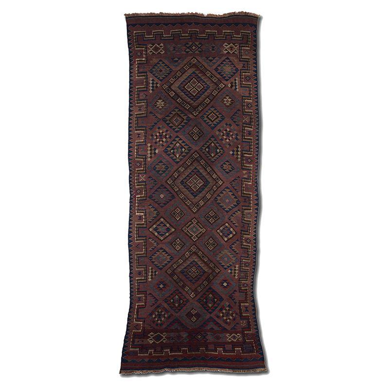 Koberec kelim Mukkur Kutchi Pashtun 350 x 130 cm