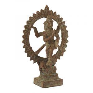 Soška Shiva Nataraja kov 18 cm