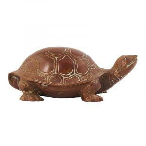 Soška Želva kov 6,5 cm suchozemská