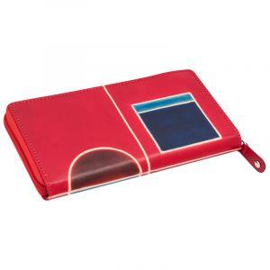 Dámská kožená peněženka Symetry London červená