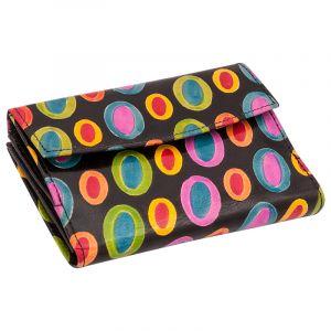 Kožená peněženka Envelope Barevný déšť černá
