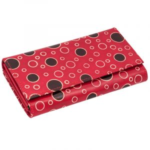 Dámská kožená peněženka Woman Rings červená
