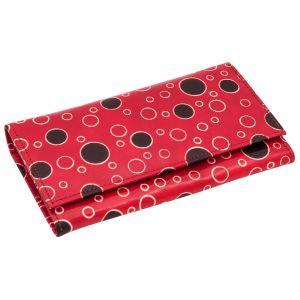 Kožená peněženka Slim Rings červená