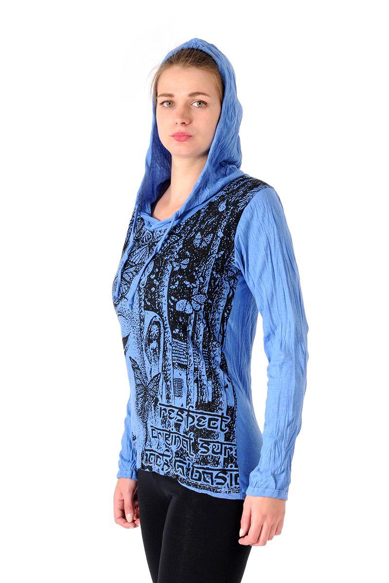 Dámská mikina Sure s kapucí Buddha modrá