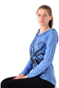 Dámská mikina Sure s kapucí Chobotnice modrá - L | SoNo spol. s r.o.