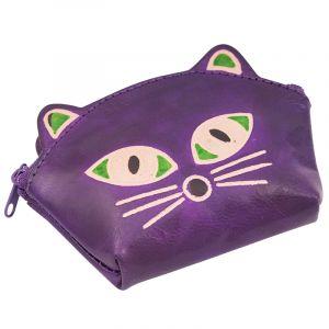 Peněženka na drobné Kočička fialová