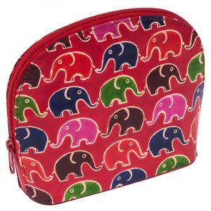 Toaletní kabelka Sloni červená