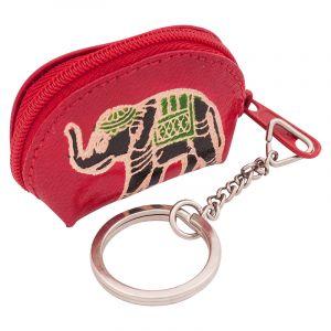 Kožený přívěsek na klíče Slon klíčenka