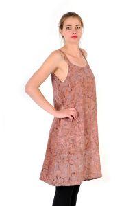 Šaty BOB Dona na ramínka Paisley fialovo-růžové