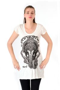Šaty Sure krátký rukáv Ganesh bílé