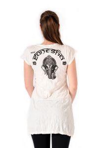 Šaty Sure mini krátký rukáv Ganesh bílé