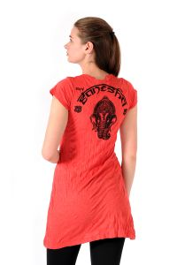 Šaty Sure mini krátký rukáv Ganesh červené - XL