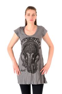 Šaty Sure krátký rukáv Ganesh šedé