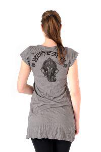 Šaty Sure mini krátký rukáv Ganesh šedé