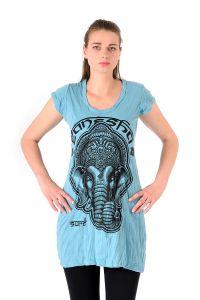 Šaty Sure krátký rukáv Ganesh tyrkysové