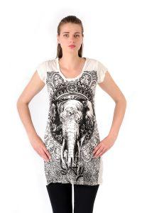 Šaty Sure krátký rukáv Slon bílé