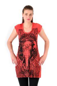 Šaty Sure krátký rukáv Slon červené