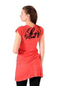 Šaty Sure mini krátký rukáv Slon červené