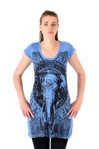 Šaty Sure mini krátký rukáv Slon modré