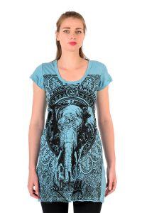 Šaty Sure mini krátký rukáv Slon tyrkysové