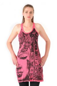 Šaty Sure na ramínka Buddha růžové