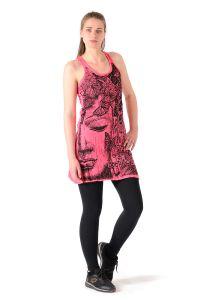 Šaty Sure mini na ramínka Buddha růžové | SoNo spol. s r.o.