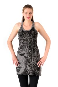 Šaty Sure mini na ramínka Buddha šedé | SoNo spol. s r.o.