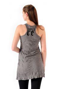 Šaty Sure mini na ramínka Buddha šedé