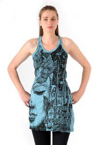 Šaty Sure na ramínka Buddha tyrkysové