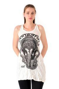 Šaty Sure na ramínka Ganesh bílé