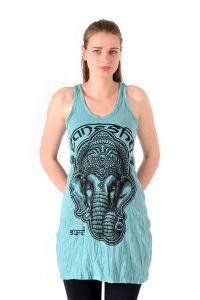 Šaty Sure na ramínka Ganesh mentolové