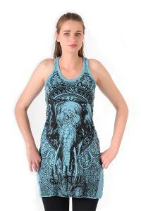Šaty Sure na ramínka Slon tyrkysové