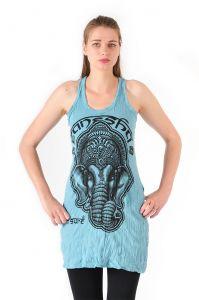 Šaty Sure na ramínka Ganesh tyrkysové