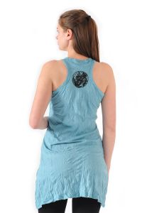 Šaty Sure mini na ramínka Ganesh tyrkysové
