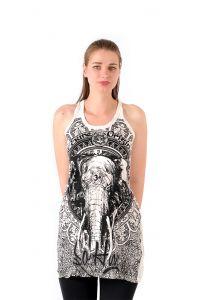 Šaty Sure na ramínka Slon bílé