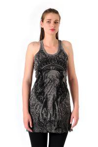 Šaty Sure na ramínka Slon šedé