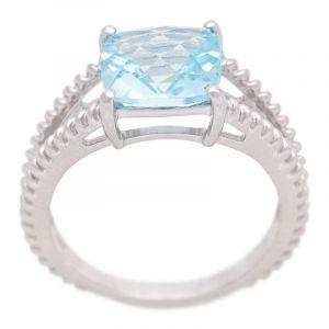 Stříbrný prsten Sky Blue topaz Ag 3,9 g