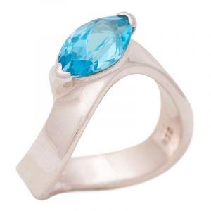 Stříbrný prsten s Baby Blue topazy Ag 5,6 g