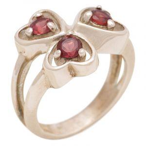Stříbrný prsten s granáty Ag 5,9 g - 53