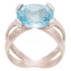 Stříbrný prsten Sky Blue topaz Ag 5,9 g